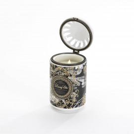 Fruity and Floral Scented Candle Black Ceramic Jar With Lid
