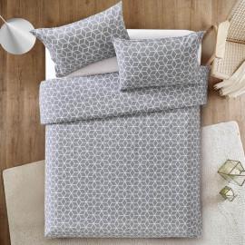 Luxury Flat Sheet set 4 pcs Light grey and White