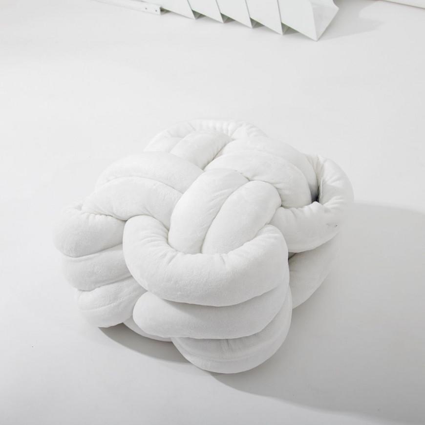 وسادة حلزونية مخملية أبيض