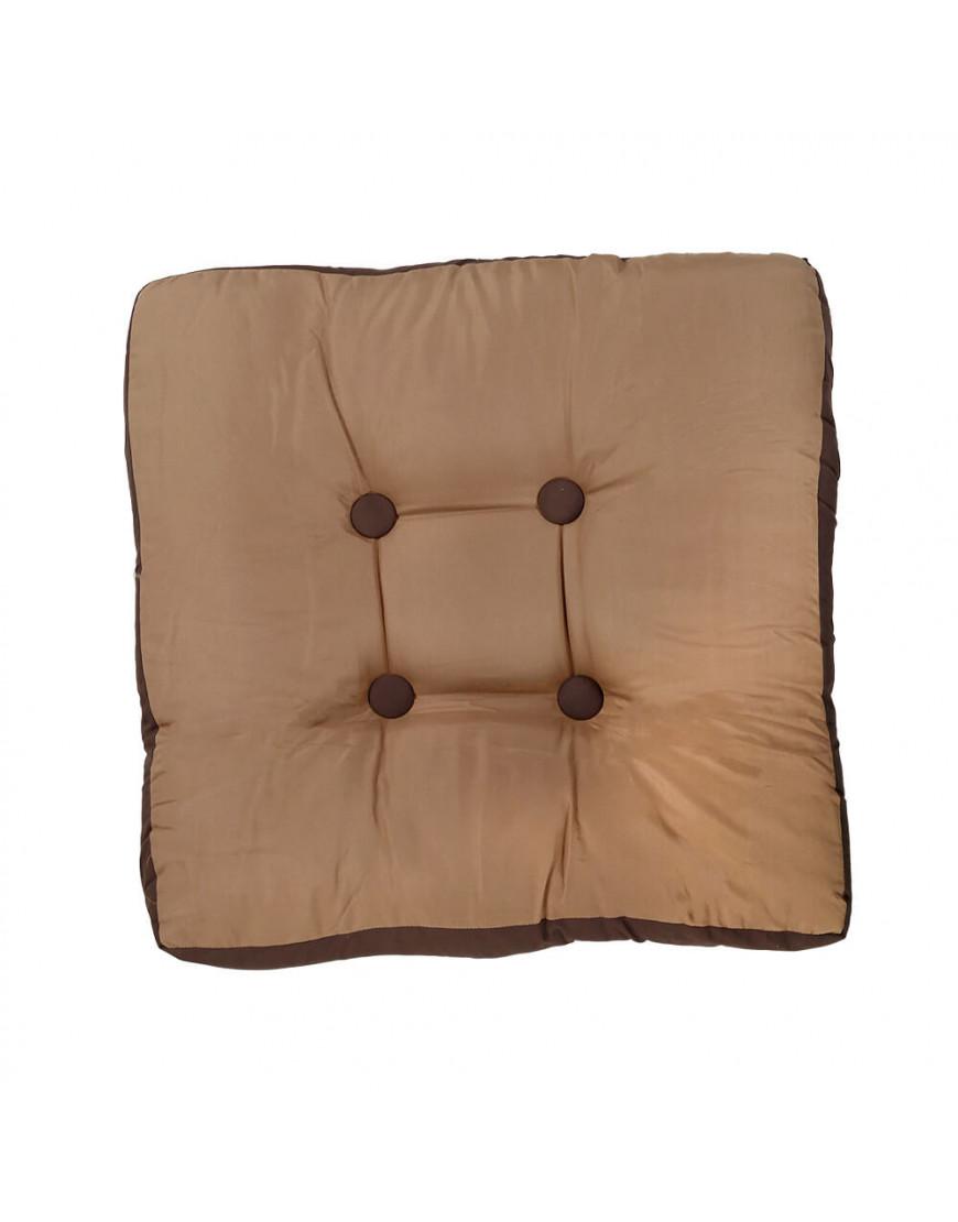 وسادة أرضية مربعة بني فاتح 50 × 50 سم
