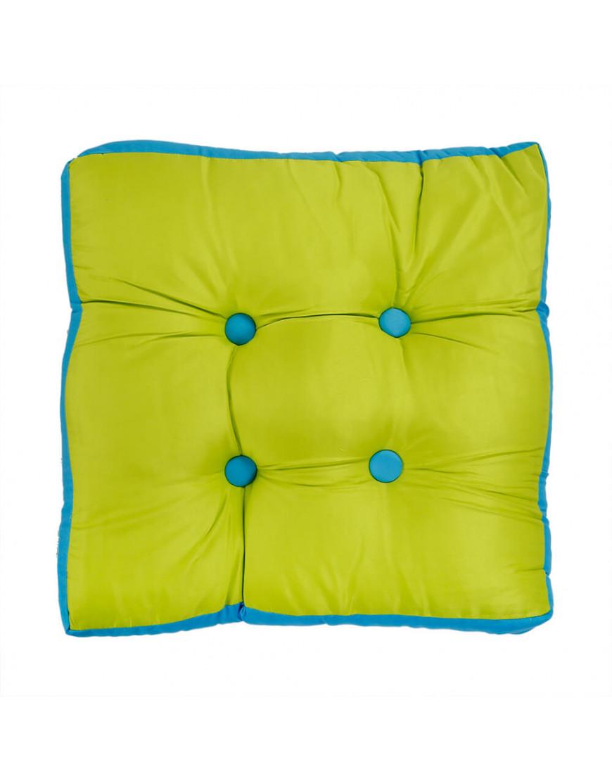 وسادة أرضية مربع تفاحي و أزرق 50 × 50 سم