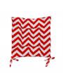 وسادة كرسي مربعة بخطوط متعرجة أحمر 38 × 38 سم