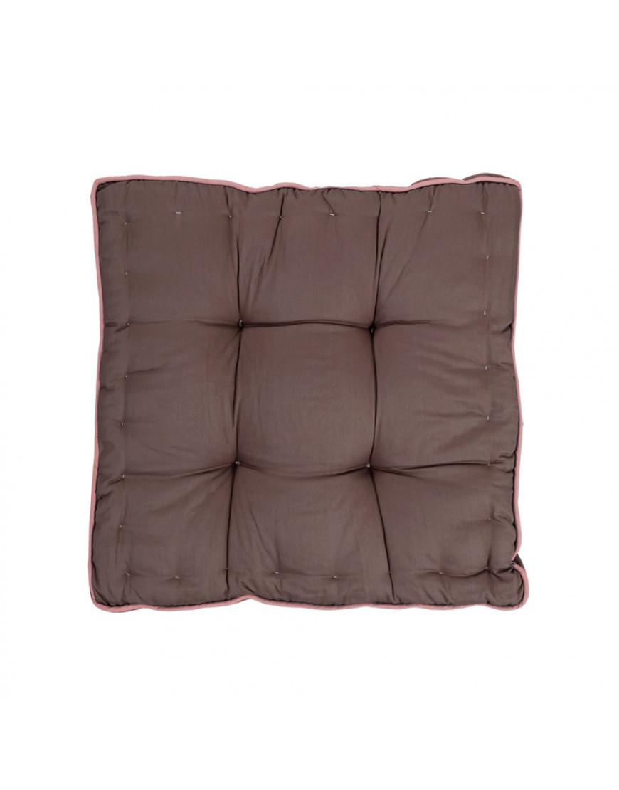 وسادة أرضية مربعة سادة بني 38 × 38 سم