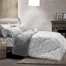 Daany Velvet Winter Bedding Grey Double 6-piece Set