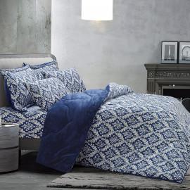 Daany Velvet Winter Bedding Dark Blue Double 6-piece Set