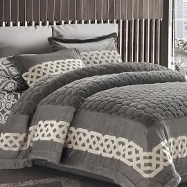 Kamelia Fur Winter Bedding Grey Single 4-piece Set
