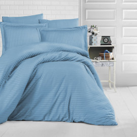 NADAV Hotel Bedding Single 250-TC Cotton Light Blue 6-PCS