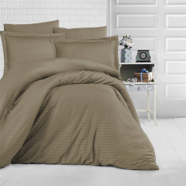 NADAV Hotel Bedding Double 250-TC Cotton Dark Golden 9-PCS