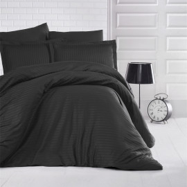 NADAV Hotel Bedding Double 250-TC Cotton Black 9-PCS