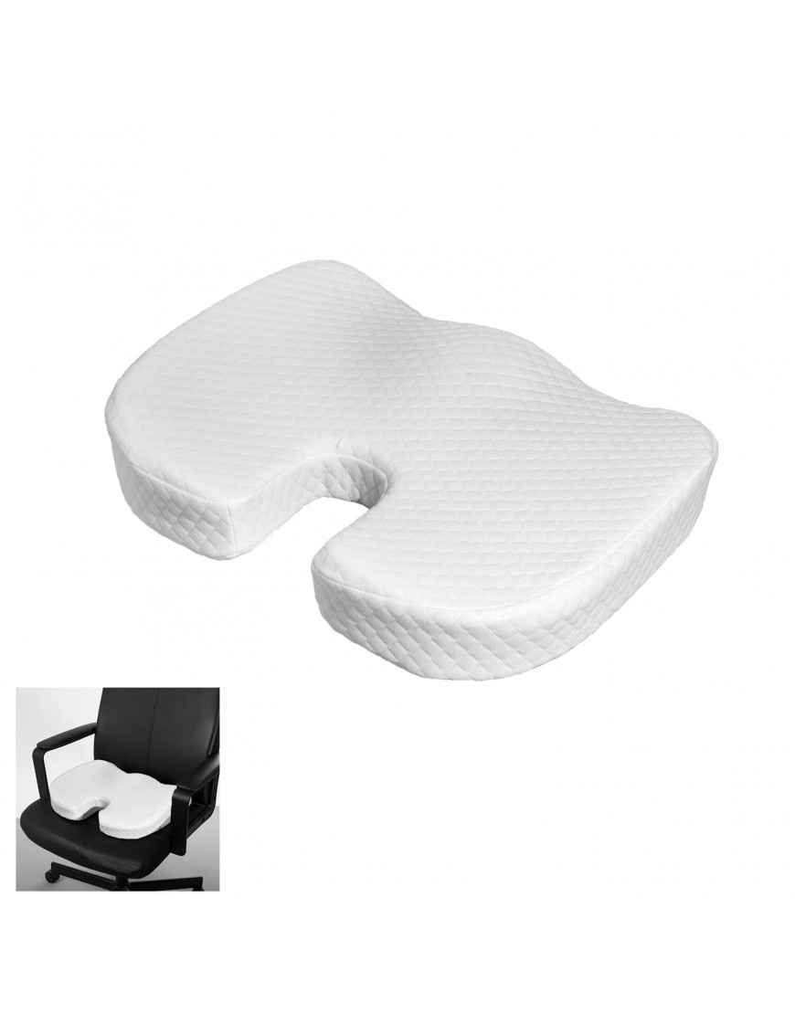 وسادة كرسي فوم لون أبيض