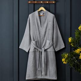 Classic Cotton Bath Robe Grey