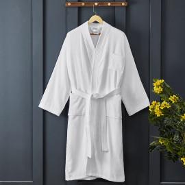 Classic Cotton Bath Robe White