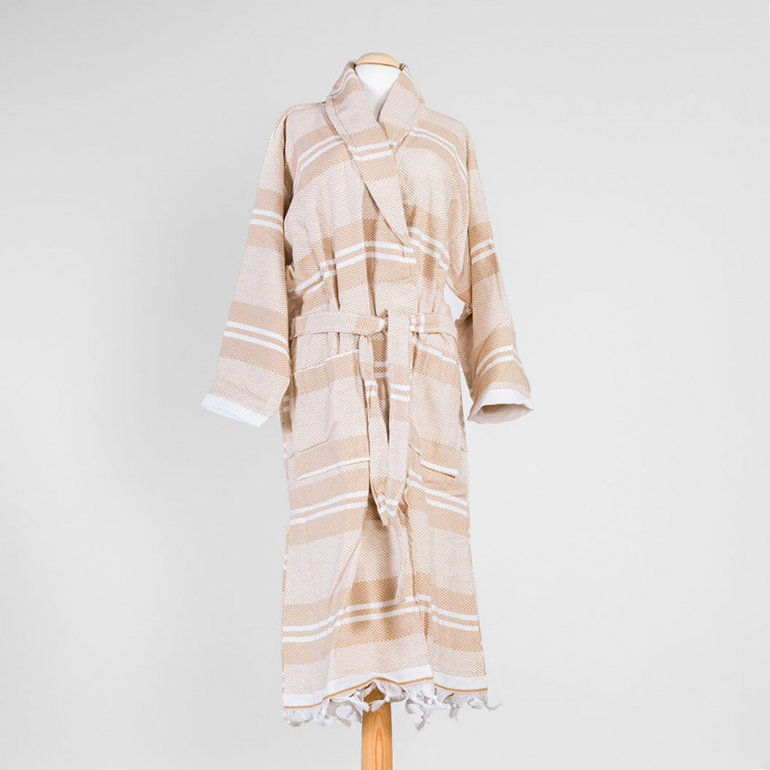Bath Robe Single Beige