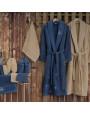 طقم أرواب استحمام سيزار بيج و أزرق عدد القطع 14