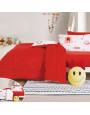 مفرش أطفال رنا شتوي مفرد ونص مخمل أحمر و وردي عدد القطع 5