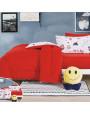 مفرش أطفال رنا شتوي مفرد ونص مخمل أحمر و أزرق عدد القطع 5