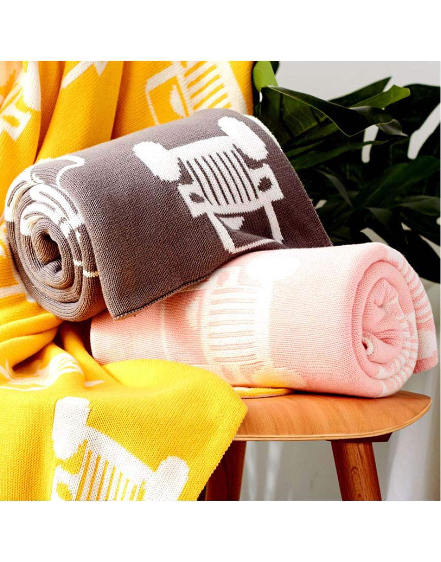 بطانية شال صوف لون زهري
