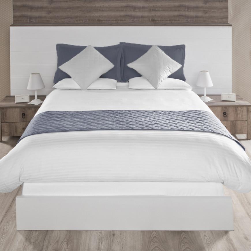 Bed Scarf Double Dark Grey 3-Piece Set
