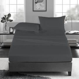 Luxury Flat Sheet set 4 pcs Dark grey