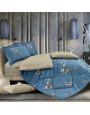 مفرش لافندر صيفي مزدوج بيج و أزرق مورد عدد القطع 6