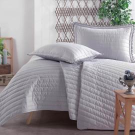 Pedra Lightweight Summer Bedding Grey Double 4-piece Quilt Set