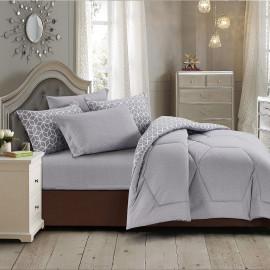 Sally Summer Bedding Grey Double 6-piece Set