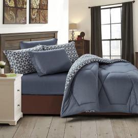 Sally Summer Bedding Dark Grey Double 6-piece Set