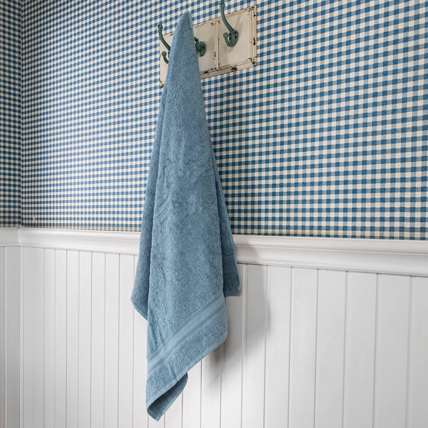 Adela Hotel Towel Turkish Cotton Blue