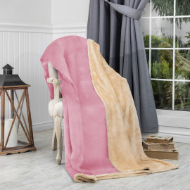 Reversible Ultra-Soft Double Blanket Pink 220 x 240 cm