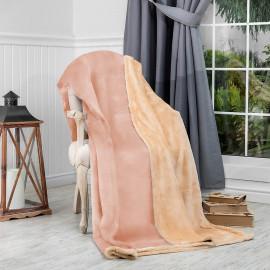 Reversible Ultra-Soft Double Blanket Beige 220 x 240 cm