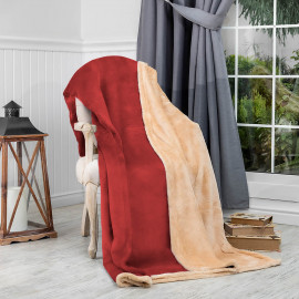 Reversible Ultra-Soft Double Blanket Red 220 x 240 cm