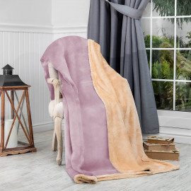 Reversible Ultra-Soft Double Blanket Lilac 220 x 240 cm