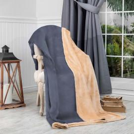 Reversible Ultra-Soft Double Blanket Grey 220 x 240 cm
