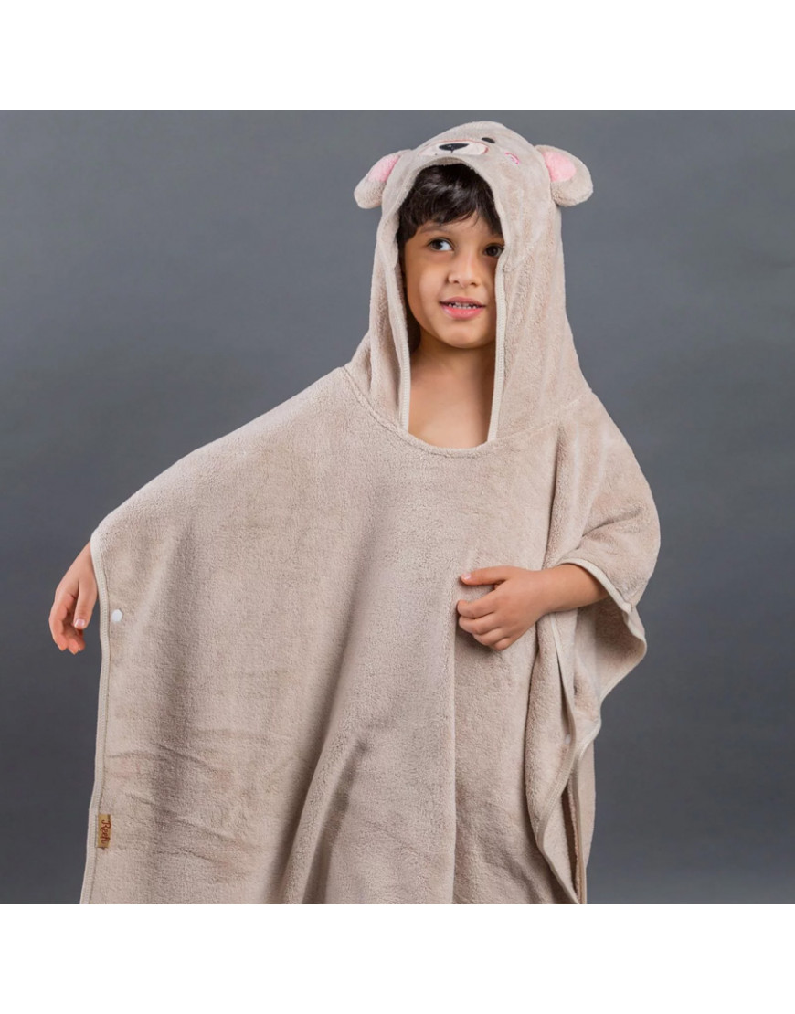 بانشو استحمام أطفال مخملي بيج عمر 3 - 5 سنوات
