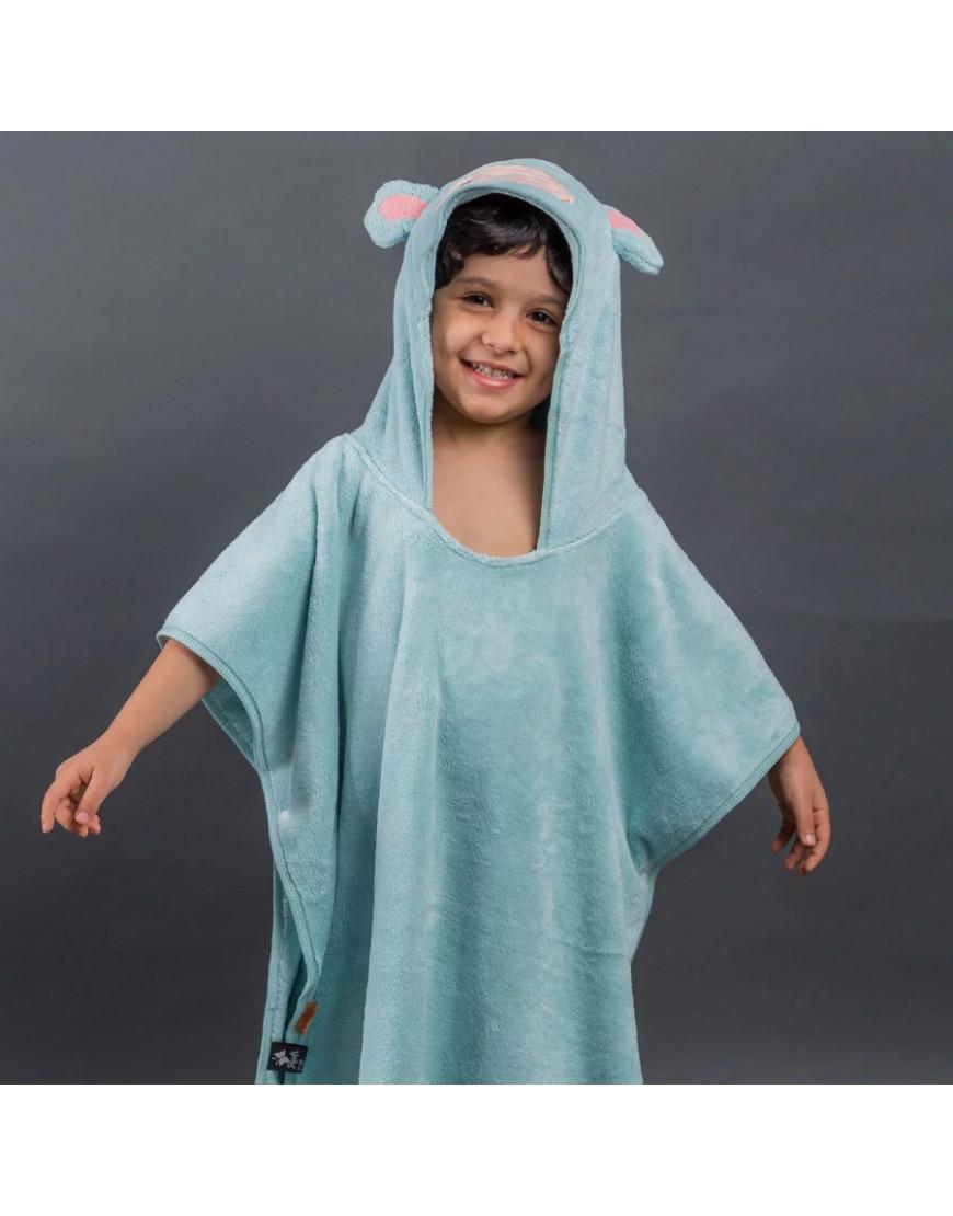 بانشو استحمام أطفال مخملي تركواز عمر 3 - 5 سنوات