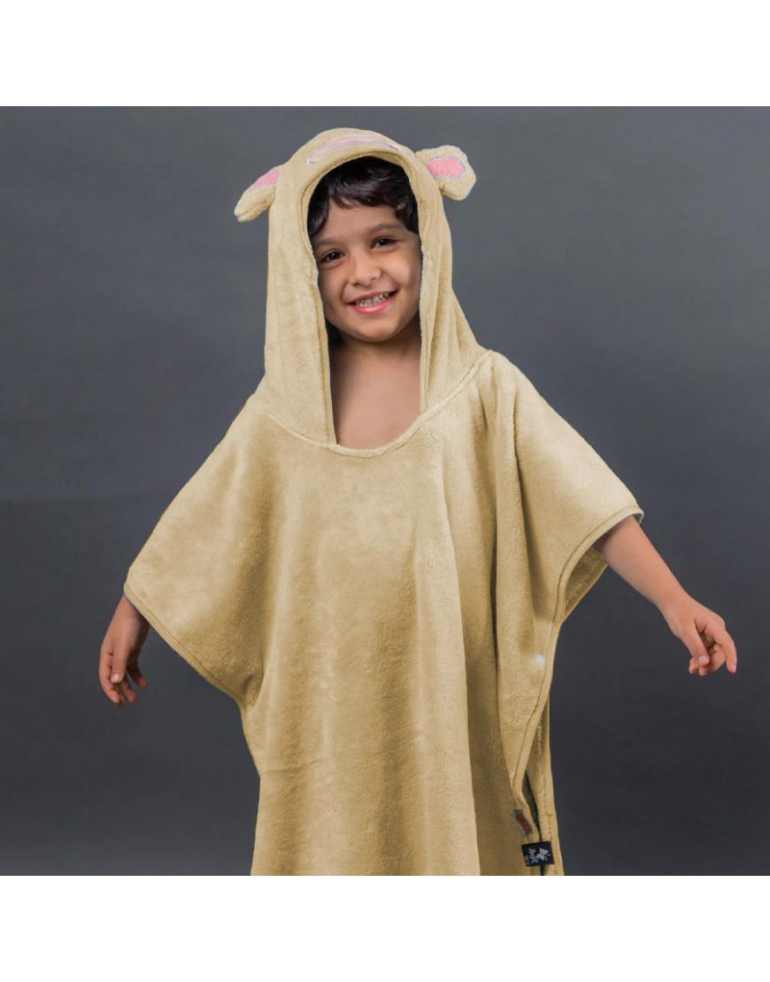 بانشو استحمام أطفال مخملي أصفر عمر 3 - 5 سنوات
