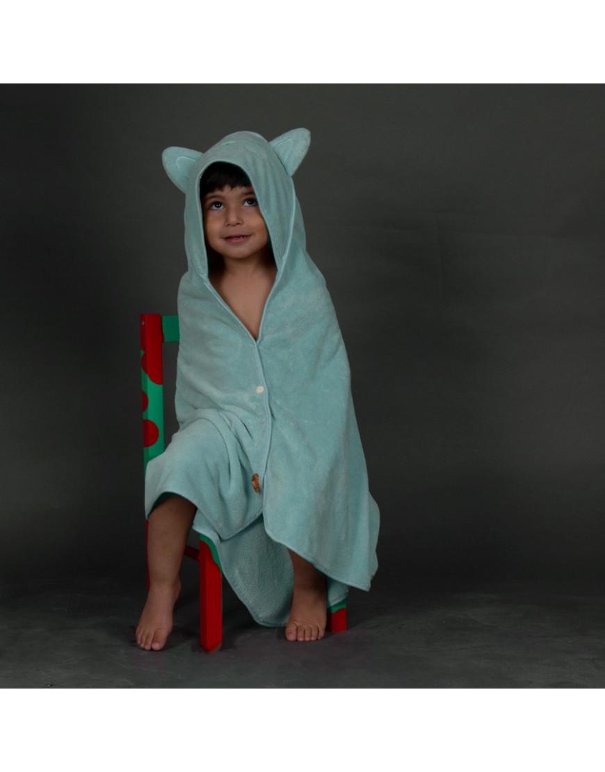 بانشو استحمام أطفال رضع مخملي تركواز