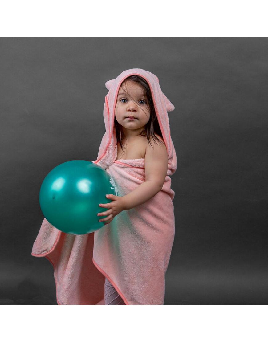 بانشو استحمام أطفال رضع مخملي وردي
