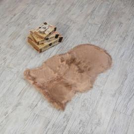 Plain Fur Door Mat Beige 80x50 cm
