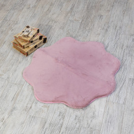 Shaggy Extra Soft Rounded Floor Mat Pink 90x90 cm