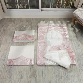 Bride Prayer Mat Cream And Pink 4-piece Set
