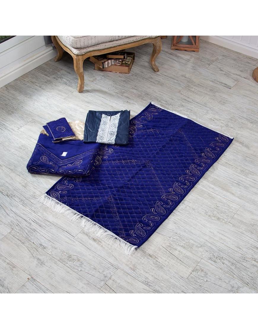 حقيبة سجادة صلاة أزرق غامق عدد القطع 4