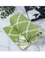 بطانية شال صوف لون أخضر