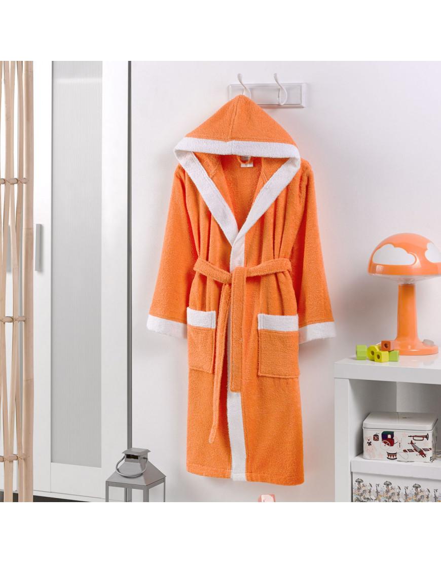 روب استحمام أطفال باللون برتقالي