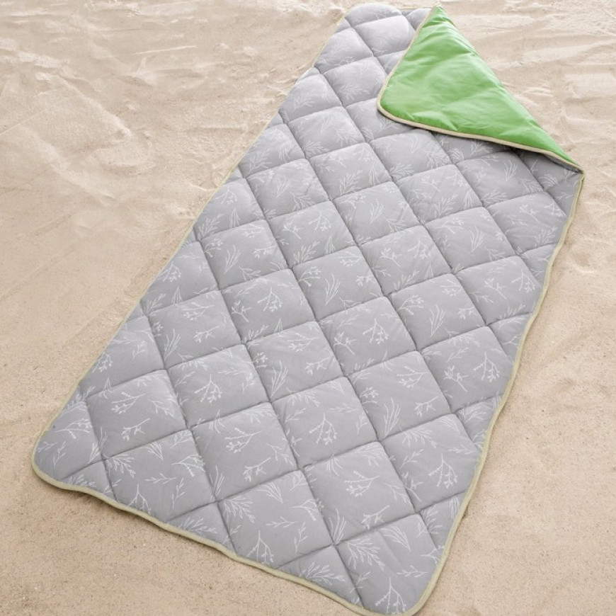 Lightweight Camping Sleeping Bag Zipper-less Green 100x220