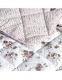 مفرش أندورا صيفي مزدوج أبيض و بني عدد القطع 8