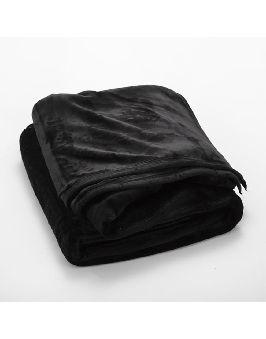 بطانية قطيفة مخملية مزدوج طبقتين أسود