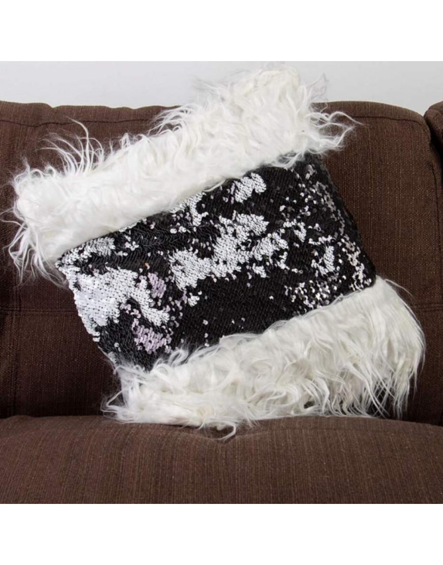 غطاء خدادية ترترية أسود و أبيض