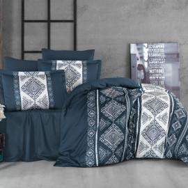 Calypso double blue duvet cover set 6pcs
