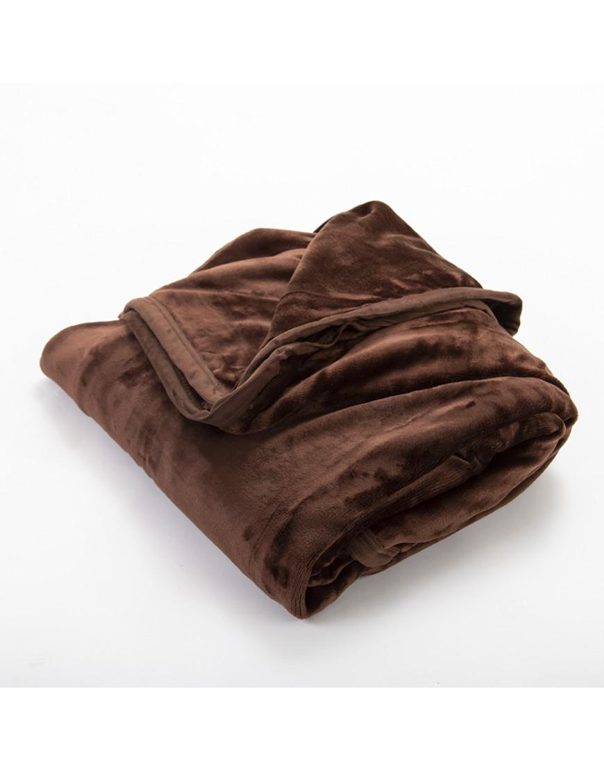 بطانية قطيفة مخملية مفرد ونص طبقتين بني